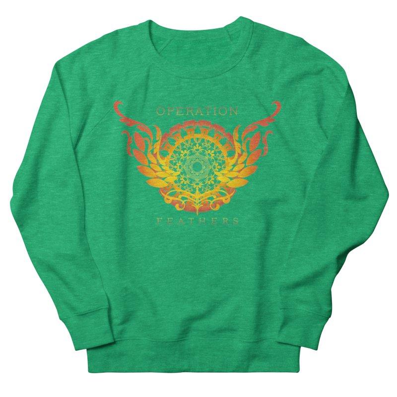 O.F. Mandala of Power - Orange Sunburst Women's Sweatshirt by The Evocative Workshop's SFX Art Studio Shop