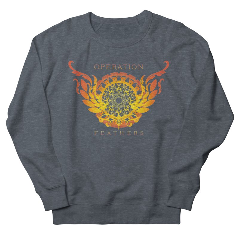 O.F. Mandala of Power - Orange Sunburst Women's French Terry Sweatshirt by The Evocative Workshop's SFX Art Studio Shop