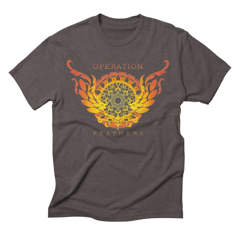 O.F. Mandala of Power - Orange Sunburst Men's Triblend T-Shirt by The Evocative Workshop's SFX Art Studio Shop