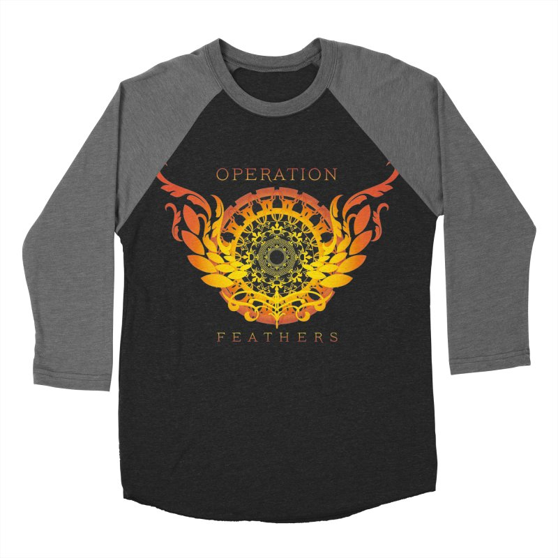 O.F. Mandala of Power - Orange Sunburst Men's Baseball Triblend Longsleeve T-Shirt by The Evocative Workshop's SFX Art Studio Shop