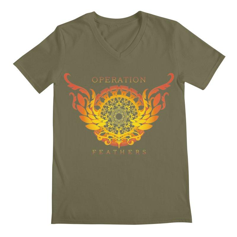 O.F. Mandala of Power - Orange Sunburst Men's Regular V-Neck by The Evocative Workshop's SFX Art Studio Shop