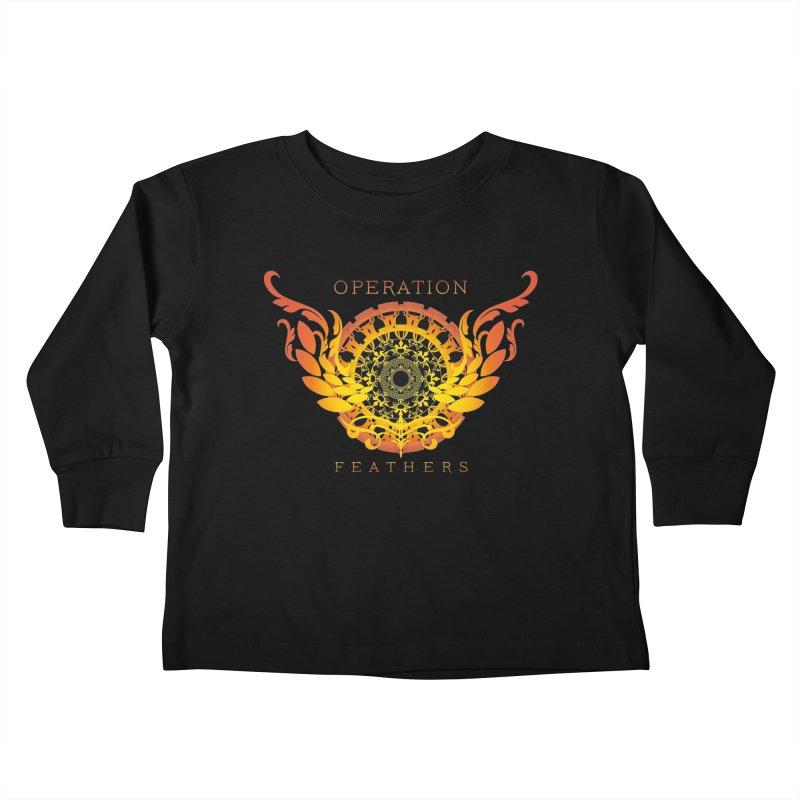 O.F. Mandala of Power - Orange Sunburst Kids Toddler Longsleeve T-Shirt by The Evocative Workshop's SFX Art Studio Shop