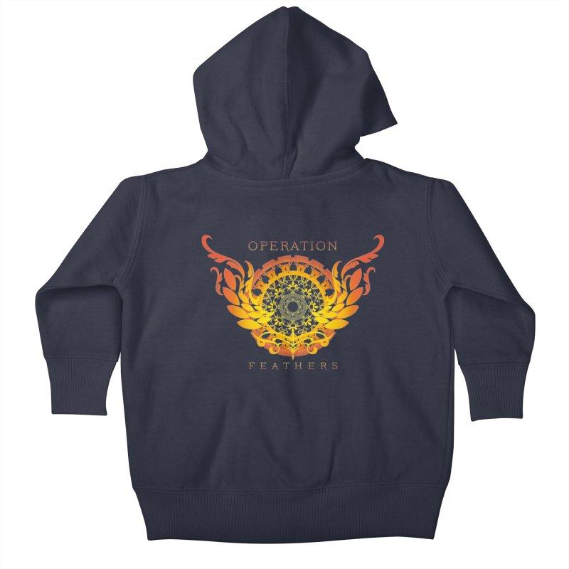O.F. Mandala of Power - Orange Sunburst Kids Baby Zip-Up Hoody by The Evocative Workshop's SFX Art Studio Shop
