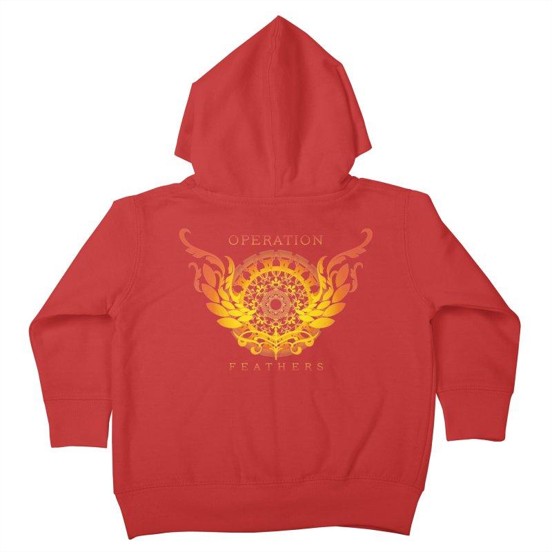 O.F. Mandala of Power - Orange Sunburst Kids Toddler Zip-Up Hoody by The Evocative Workshop's SFX Art Studio Shop