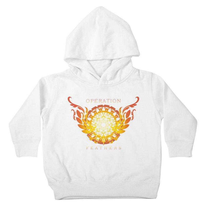O.F. Mandala of Power - Orange Sunburst Kids Toddler Pullover Hoody by The Evocative Workshop's SFX Art Studio Shop