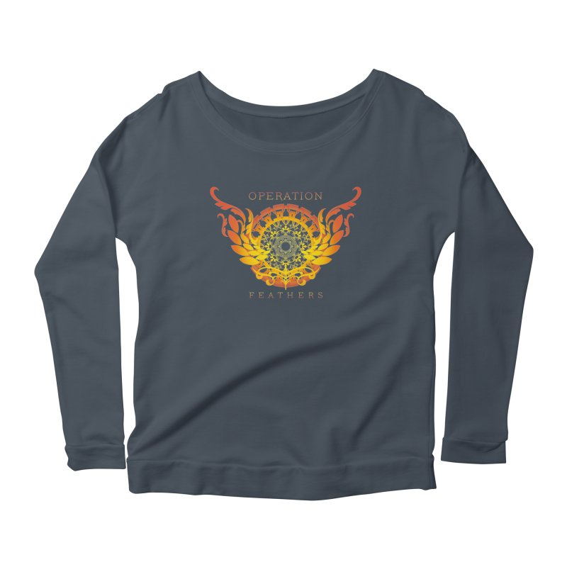 O.F. Mandala of Power - Orange Sunburst Women's Longsleeve T-Shirt by The Evocative Workshop's SFX Art Studio Shop