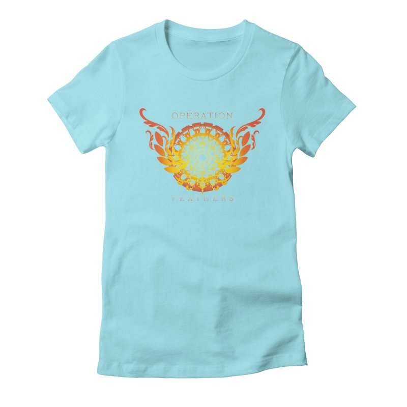 O.F. Mandala of Power - Orange Sunburst Women's Fitted T-Shirt by The Evocative Workshop's SFX Art Studio Shop