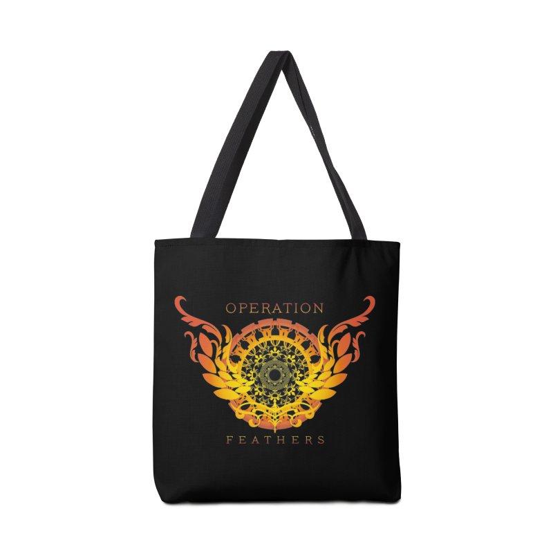 O.F. Mandala of Power - Orange Sunburst Accessories Tote Bag Bag by The Evocative Workshop's SFX Art Studio Shop