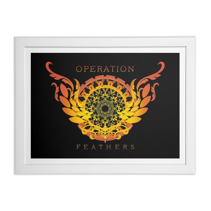 O.F. Mandala of Power - Orange Sunburst Home Framed Fine Art Print by The Evocative Workshop's SFX Art Studio Shop