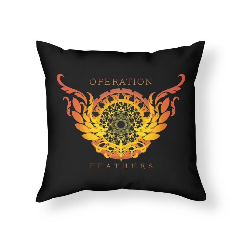 O.F. Mandala of Power - Orange Sunburst Home Throw Pillow by The Evocative Workshop's SFX Art Studio Shop