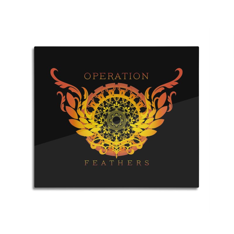 O.F. Mandala of Power - Orange Sunburst Home Mounted Acrylic Print by The Evocative Workshop's SFX Art Studio Shop