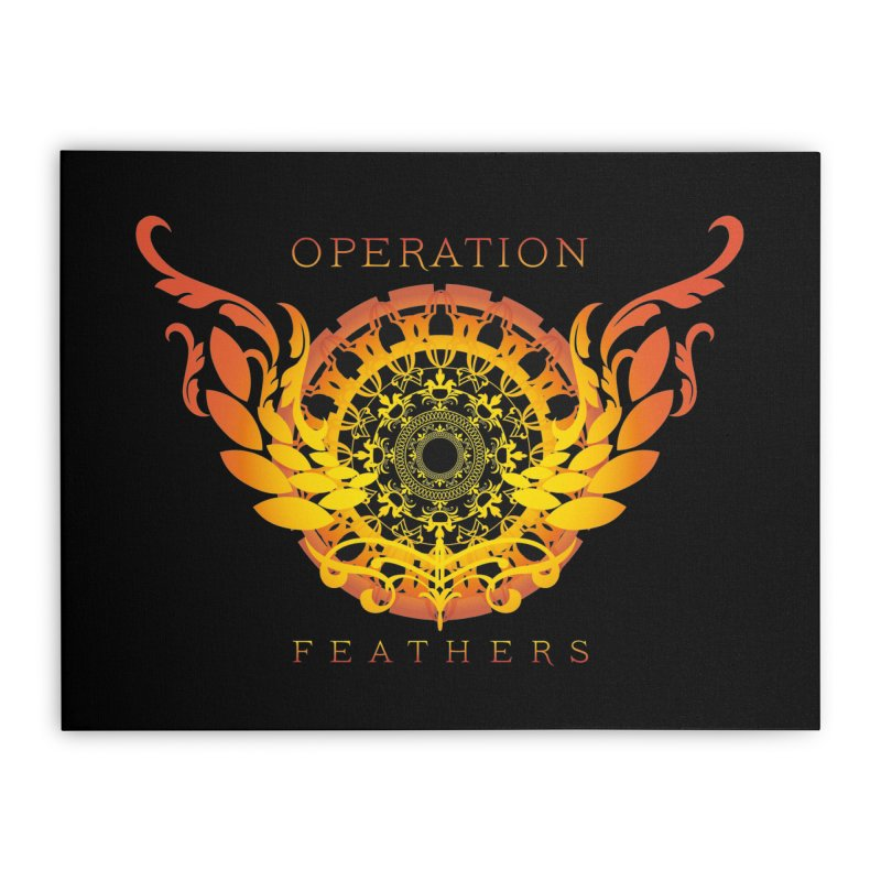 O.F. Mandala of Power - Orange Sunburst Home Stretched Canvas by The Evocative Workshop's SFX Art Studio Shop
