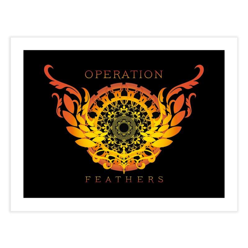 O.F. Mandala of Power - Orange Sunburst Home Fine Art Print by The Evocative Workshop's SFX Art Studio Shop