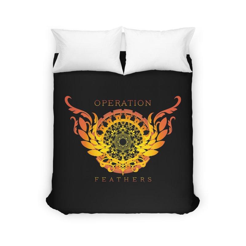 O.F. Mandala of Power - Orange Sunburst Home Duvet by The Evocative Workshop's SFX Art Studio Shop