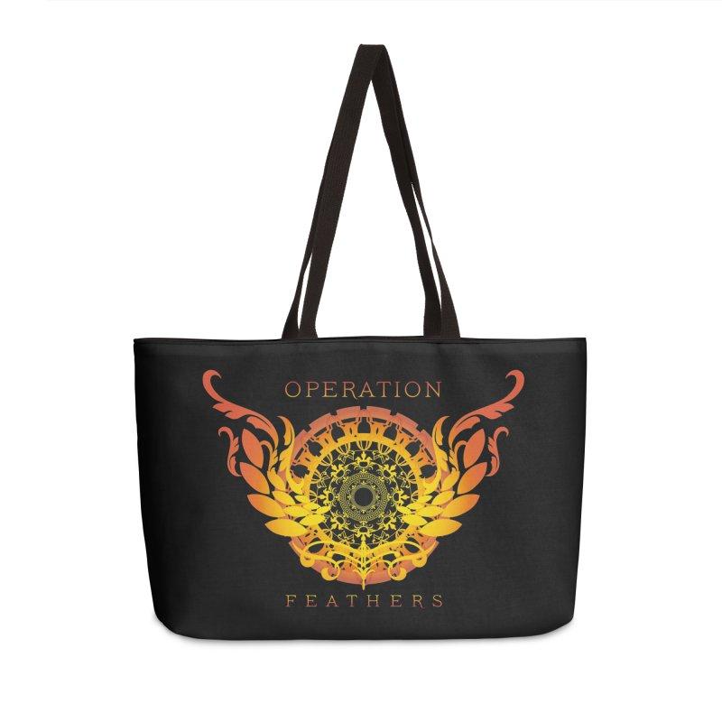 O.F. Mandala of Power - Orange Sunburst Accessories Weekender Bag Bag by The Evocative Workshop's SFX Art Studio Shop
