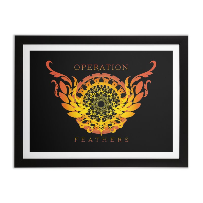 O.F. Mandala of Power - Orange Sunburst Home Framed Fine Art Print by The Evocative Workshop's SFX Art Studio Shop