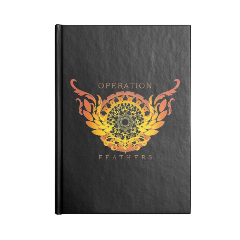 O.F. Mandala of Power - Orange Sunburst Accessories Blank Journal Notebook by The Evocative Workshop's SFX Art Studio Shop