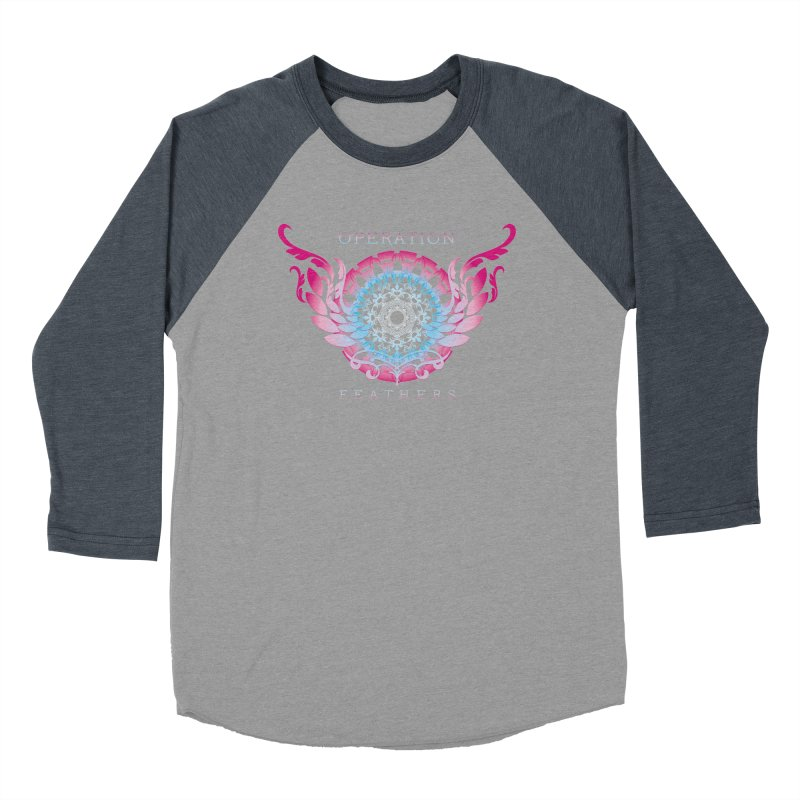 O.F. Mandala of Power - Blue Pinkburst Women's Baseball Triblend Longsleeve T-Shirt by The Evocative Workshop's SFX Art Studio Shop