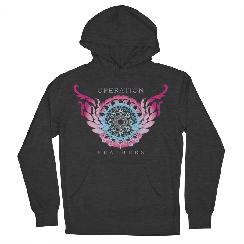 O.F. Mandala of Power - Blue Pinkburst Men's French Terry Pullover Hoody by The Evocative Workshop's SFX Art Studio Shop