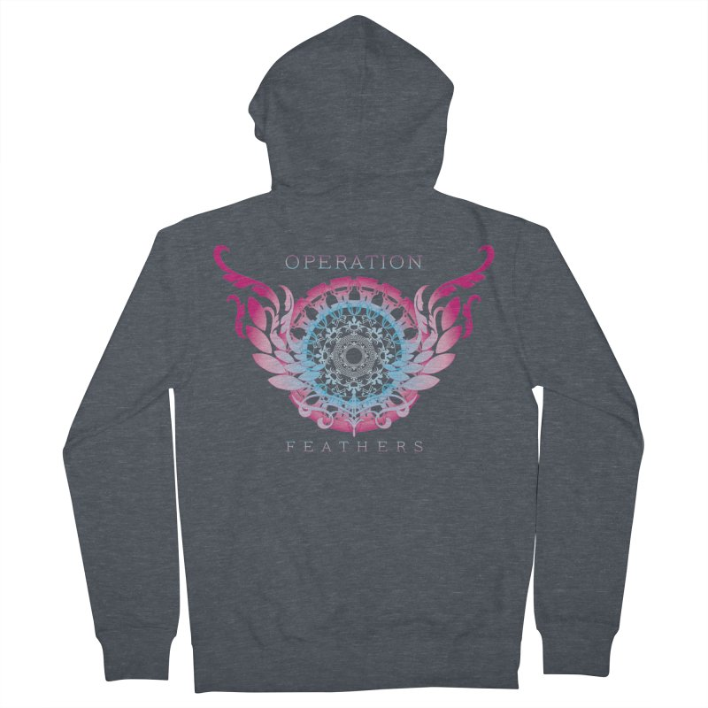 O.F. Mandala of Power - Blue Pinkburst Women's Zip-Up Hoody by The Evocative Workshop's SFX Art Studio Shop