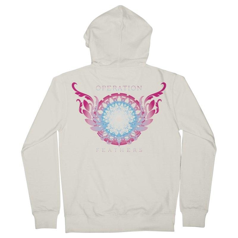 O.F. Mandala of Power - Blue Pinkburst Women's Zip-Up Hoody by The Evocative Workshop's SFX Art Studio Shop
