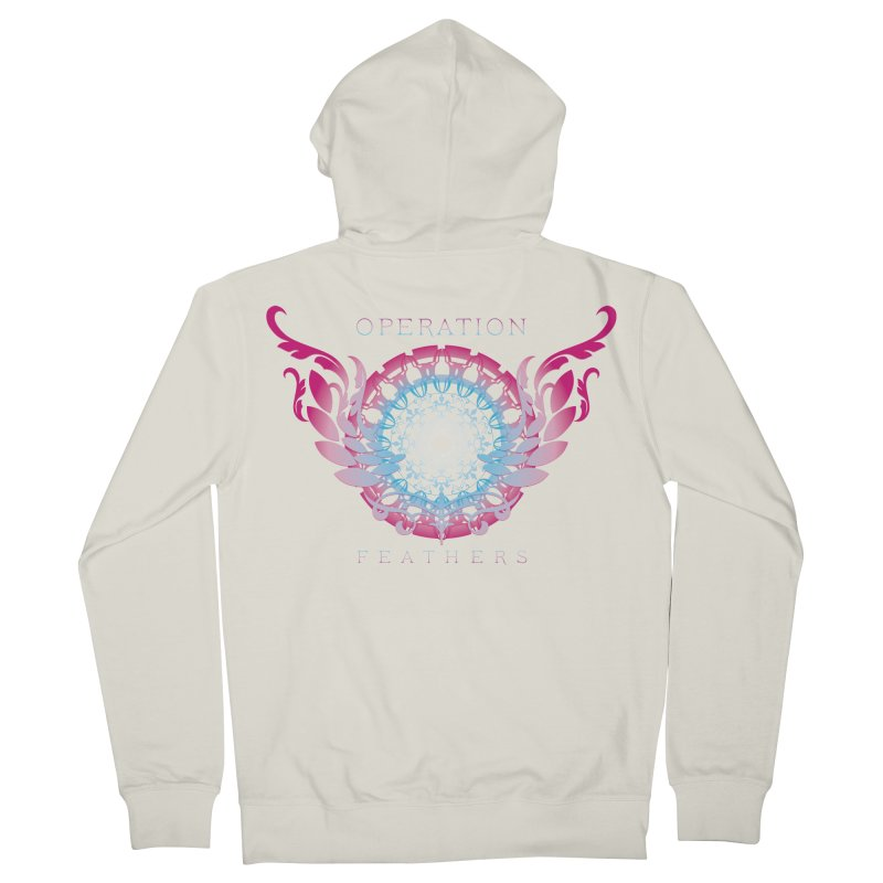 O.F. Mandala of Power - Blue Pinkburst Men's Zip-Up Hoody by The Evocative Workshop's SFX Art Studio Shop
