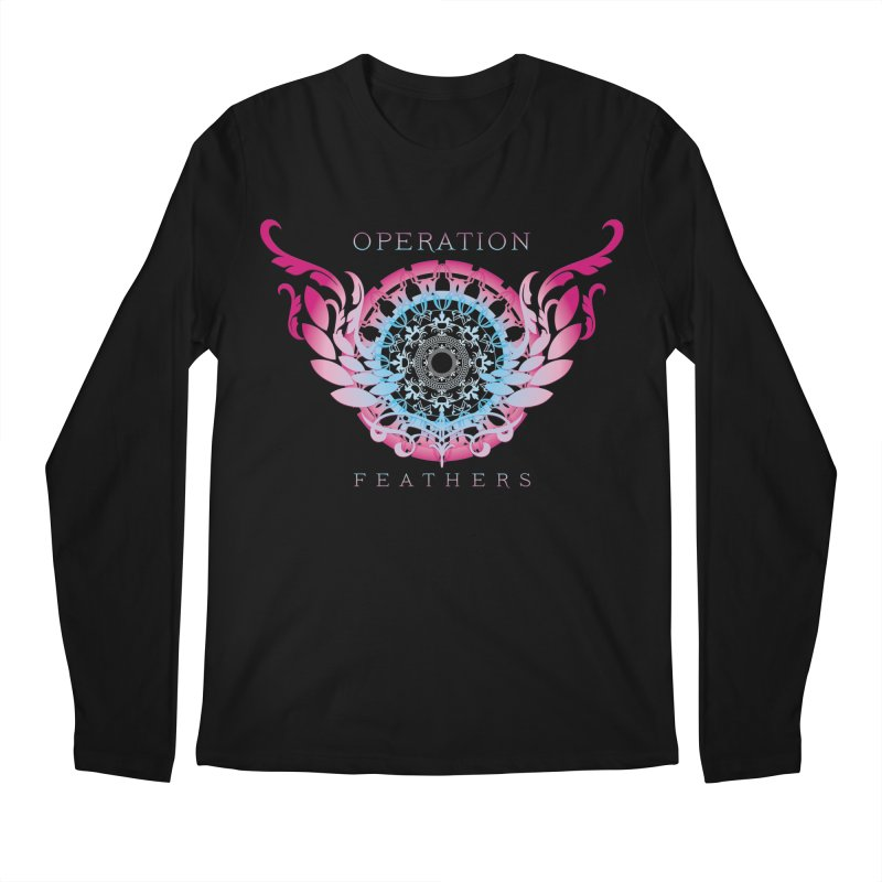 O.F. Mandala of Power - Blue Pinkburst Men's Regular Longsleeve T-Shirt by The Evocative Workshop's SFX Art Studio Shop