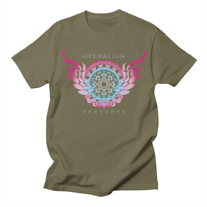 O.F. Mandala of Power - Blue Pinkburst Men's T-Shirt by The Evocative Workshop's SFX Art Studio Shop