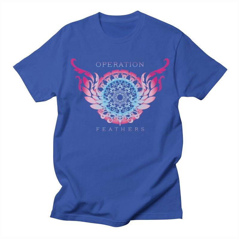 O.F. Mandala of Power - Blue Pinkburst Men's Regular T-Shirt by The Evocative Workshop's SFX Art Studio Shop