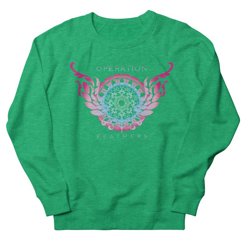 O.F. Mandala of Power - Blue Pinkburst Women's Sweatshirt by The Evocative Workshop's SFX Art Studio Shop