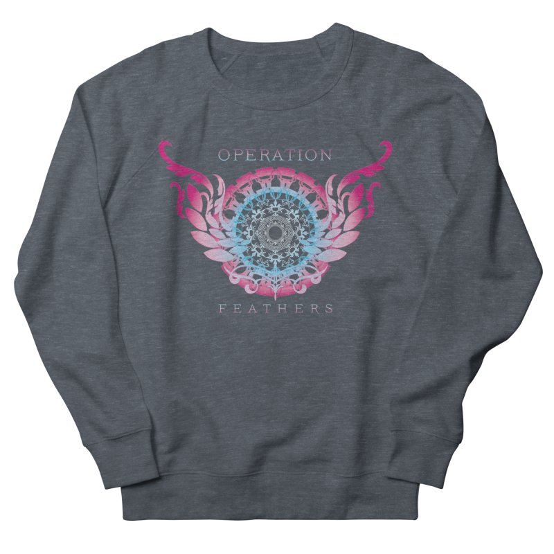O.F. Mandala of Power - Blue Pinkburst Women's French Terry Sweatshirt by The Evocative Workshop's SFX Art Studio Shop