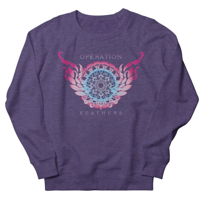 O.F. Mandala of Power - Blue Pinkburst Men's French Terry Sweatshirt by The Evocative Workshop's SFX Art Studio Shop