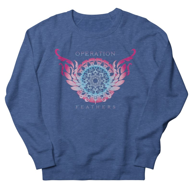 O.F. Mandala of Power - Blue Pinkburst Men's Sweatshirt by The Evocative Workshop's SFX Art Studio Shop