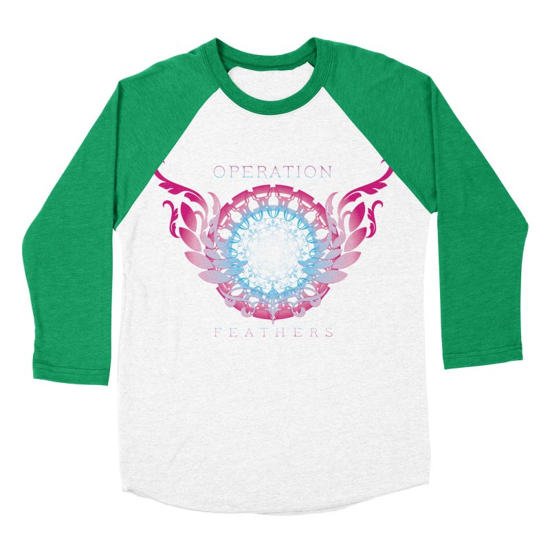 O.F. Mandala of Power - Blue Pinkburst Women's Baseball Triblend Longsleeve T-Shirt by The Evocative Workshop's SFX Art Studio Shop