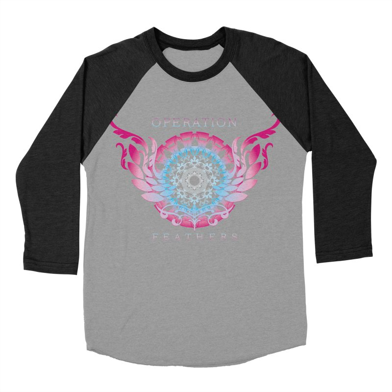O.F. Mandala of Power - Blue Pinkburst Men's Baseball Triblend Longsleeve T-Shirt by The Evocative Workshop's SFX Art Studio Shop