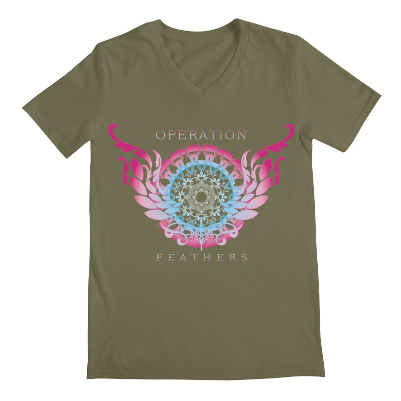 O.F. Mandala of Power - Blue Pinkburst Men's V-Neck by The Evocative Workshop's SFX Art Studio Shop