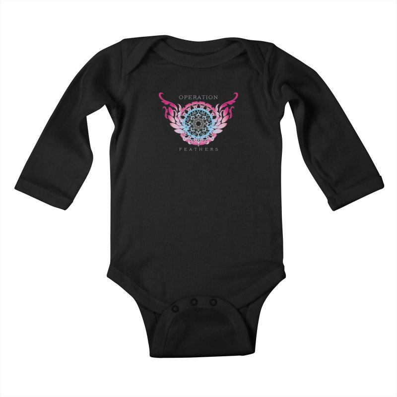 O.F. Mandala of Power - Blue Pinkburst Kids Baby Longsleeve Bodysuit by The Evocative Workshop's SFX Art Studio Shop
