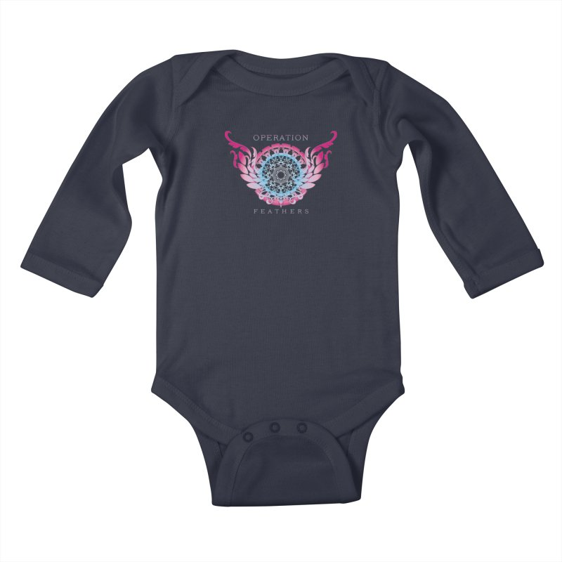 O.F. Mandala of Power - Blue Pinkburst Kids Baby Longsleeve Bodysuit by The Evocative Workshop's SFX Art Studio Shop