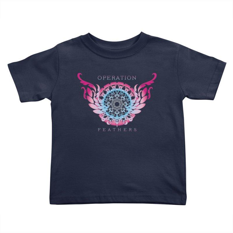 O.F. Mandala of Power - Blue Pinkburst Kids Toddler T-Shirt by The Evocative Workshop's SFX Art Studio Shop