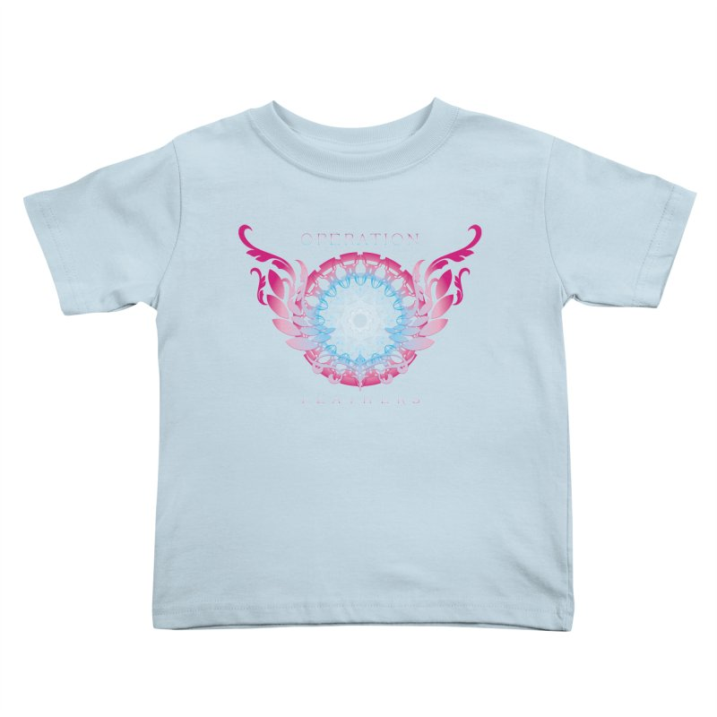 O.F. Mandala of Power - Blue Pinkburst Kids Toddler T-Shirt by The Evocative Workshop's SFX Art Studio Shop