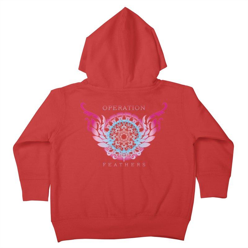 O.F. Mandala of Power - Blue Pinkburst Kids Toddler Zip-Up Hoody by The Evocative Workshop's SFX Art Studio Shop