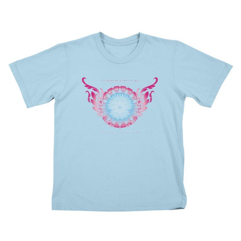 O.F. Mandala of Power - Blue Pinkburst Kids T-Shirt by The Evocative Workshop's SFX Art Studio Shop