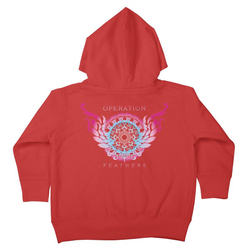 O.F. Mandala of Power - Blue Pinkburst Kids Toddler Zip-Up Hoody by The Evocative Workshop's SFX Art Studio Shop