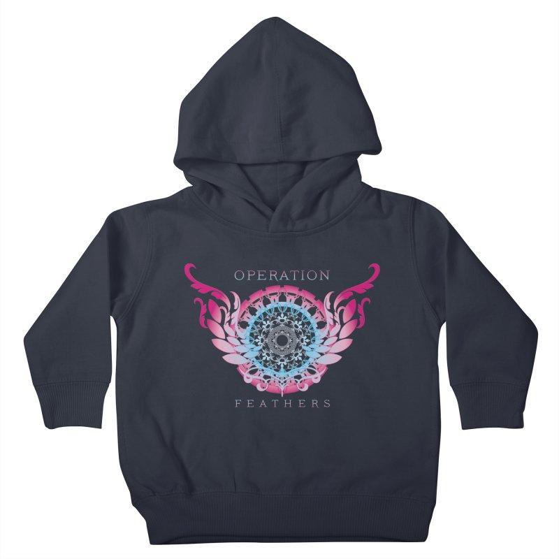 O.F. Mandala of Power - Blue Pinkburst Kids Toddler Pullover Hoody by The Evocative Workshop's SFX Art Studio Shop
