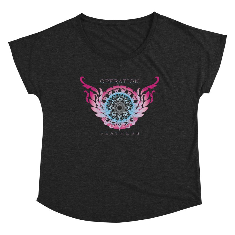 O.F. Mandala of Power - Blue Pinkburst Women's Scoop Neck by The Evocative Workshop's SFX Art Studio Shop