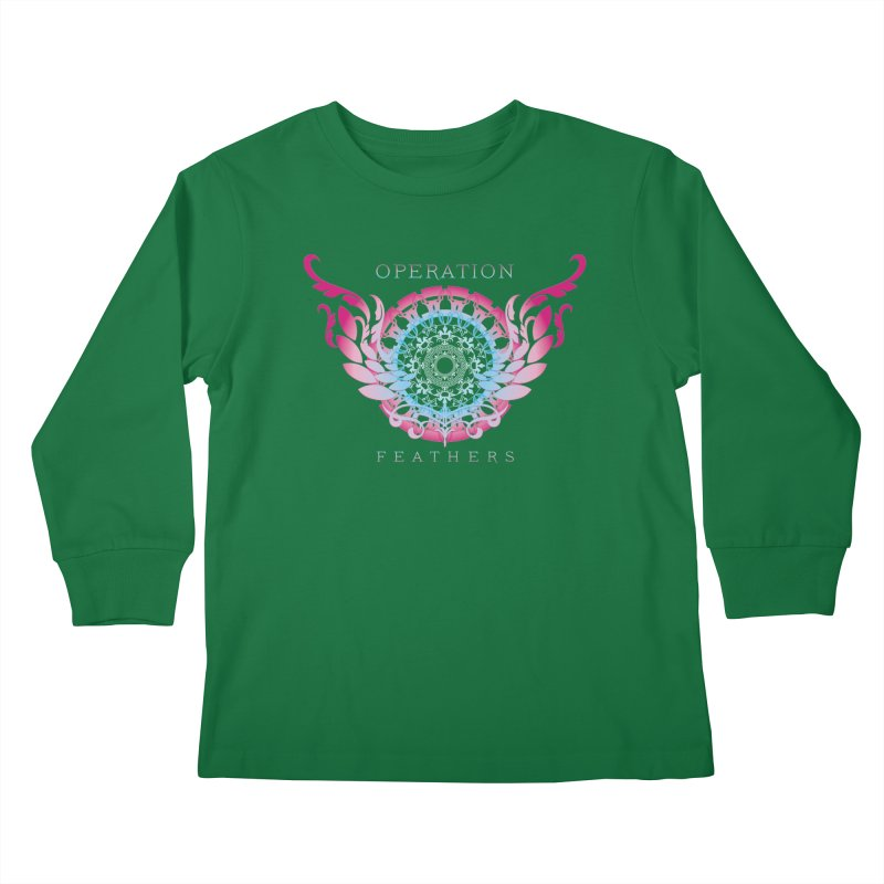 O.F. Mandala of Power - Blue Pinkburst Kids Longsleeve T-Shirt by The Evocative Workshop's SFX Art Studio Shop