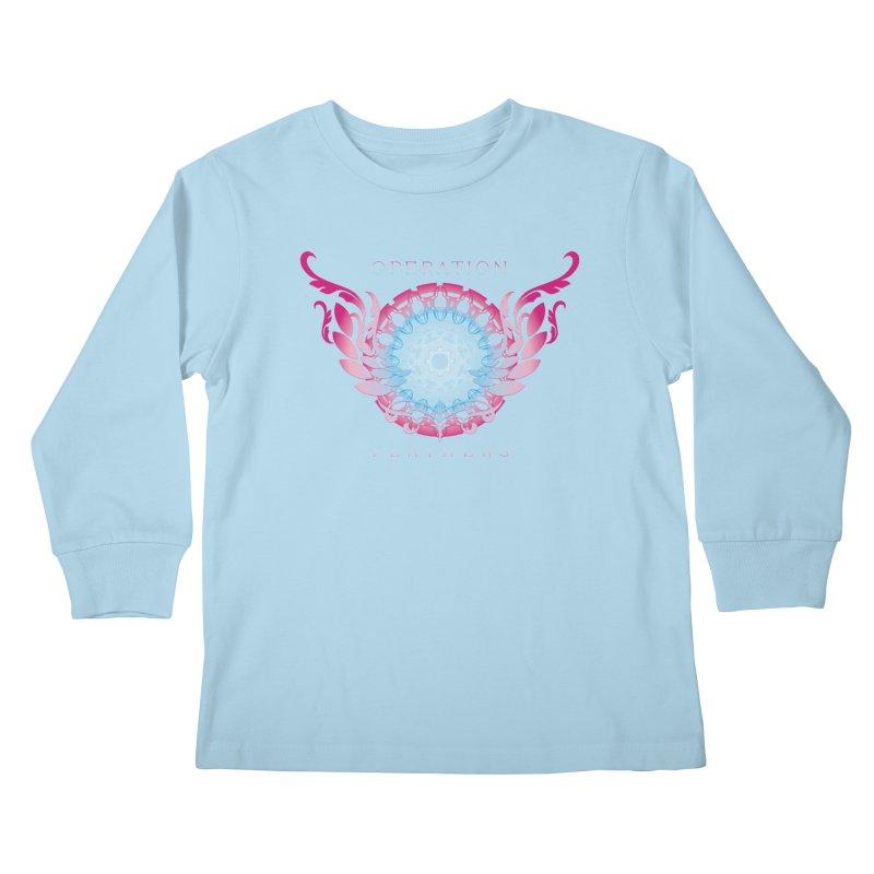 O.F. Mandala of Power - Blue Pinkburst Kids Longsleeve T-Shirt by The Evocative Workshop's SFX Art Studio Shop