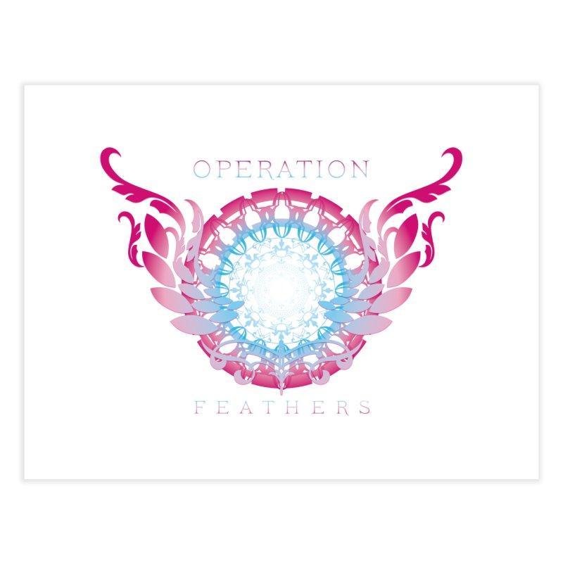 O.F. Mandala of Power - Blue Pinkburst Home Fine Art Print by The Evocative Workshop's SFX Art Studio Shop