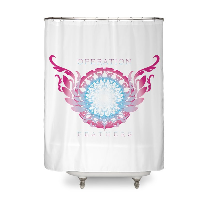 O.F. Mandala of Power - Blue Pinkburst Home Shower Curtain by The Evocative Workshop's SFX Art Studio Shop