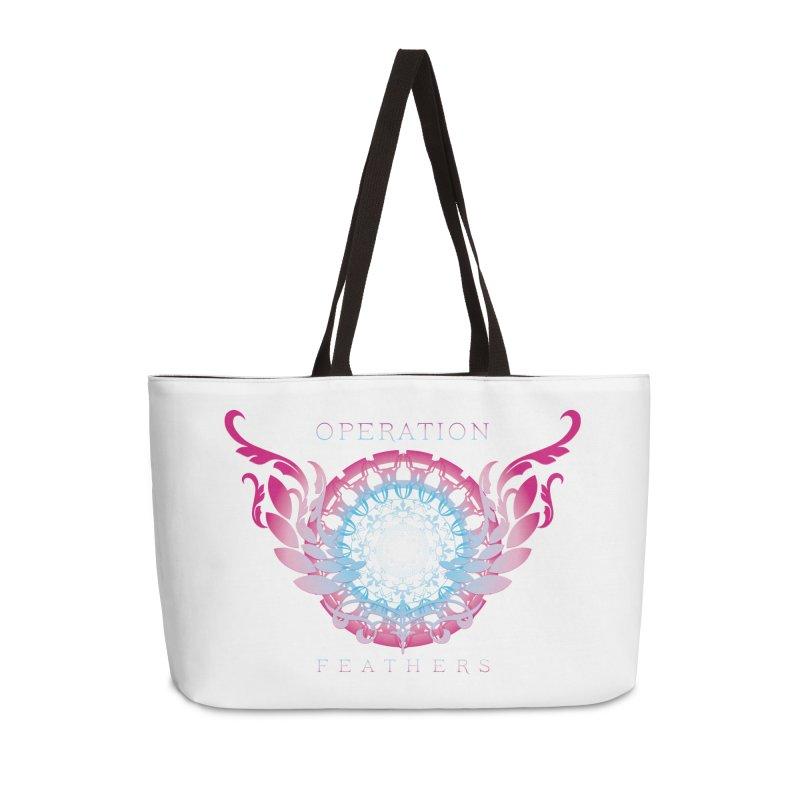 O.F. Mandala of Power - Blue Pinkburst Accessories Weekender Bag Bag by The Evocative Workshop's SFX Art Studio Shop